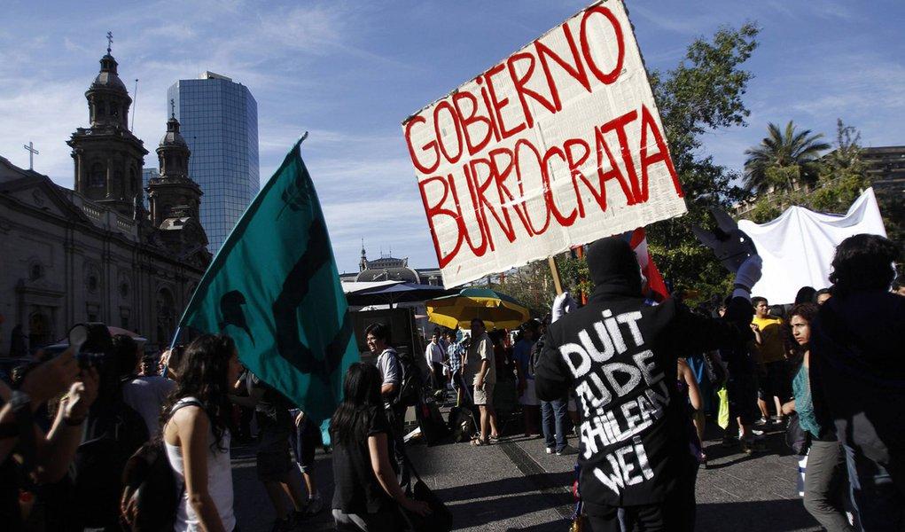 Movimento estudantil renasce com força no Chile