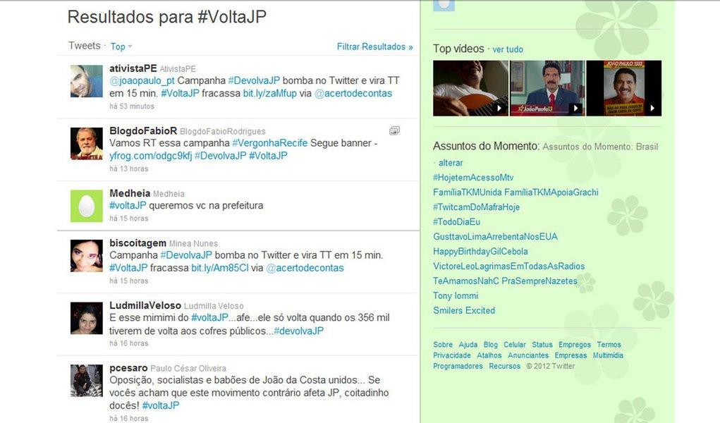 Twitter vira ringue de briga entre eleitores favoráveis e desfavoráveis a João Paulo