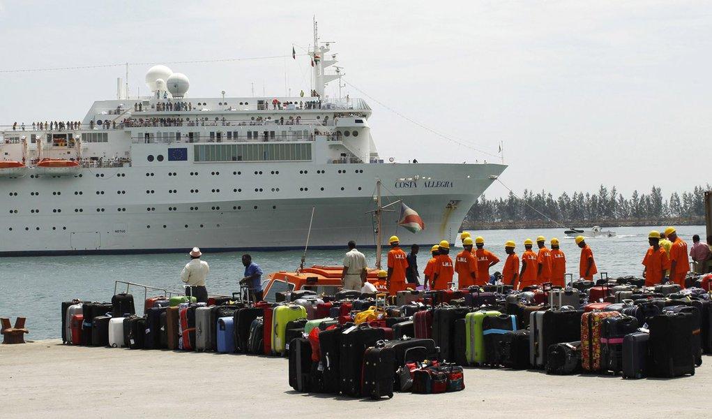 Navio Costa Allegra chega ao arquipélago das Seychelles