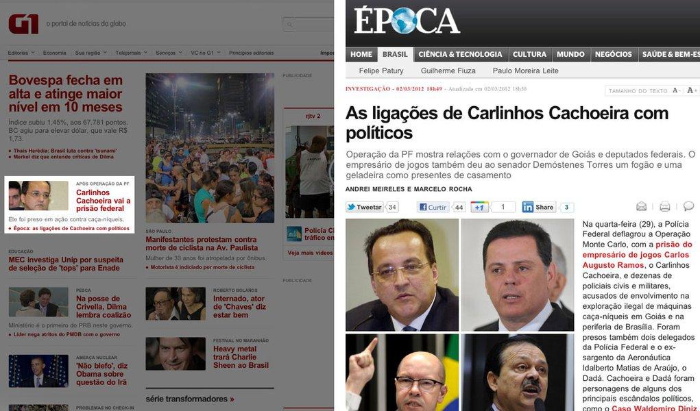 Globo esconde escândalo Carlinhos Cachoeira