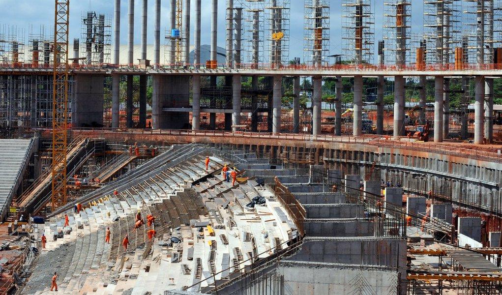 Estádio de Brasília já está com 40% das obras concluídas