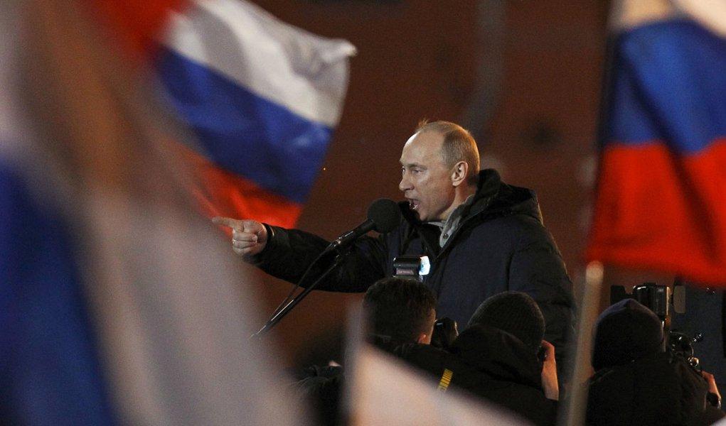 Putin está eleito na Rússia