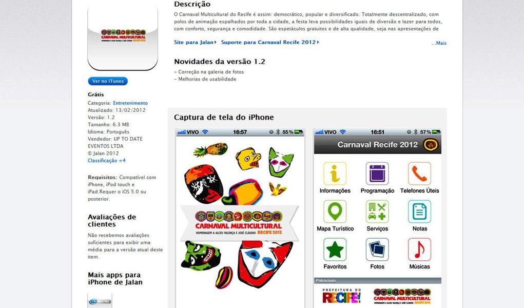 Informação do Carnaval disponível no celular