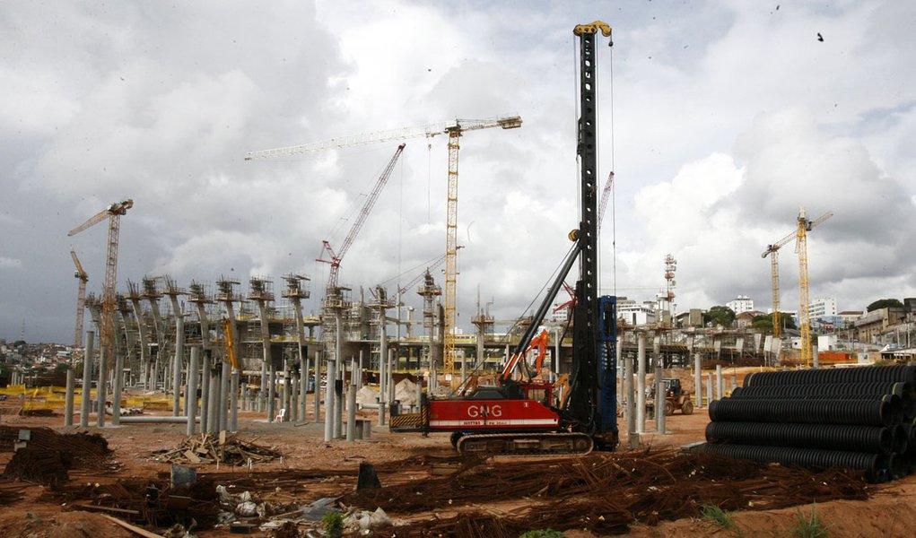 Obras da Arena Fonte Nova atingem 51%