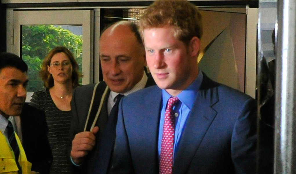 Harry, príncipe real, mostra a Inglaterra ao Rio