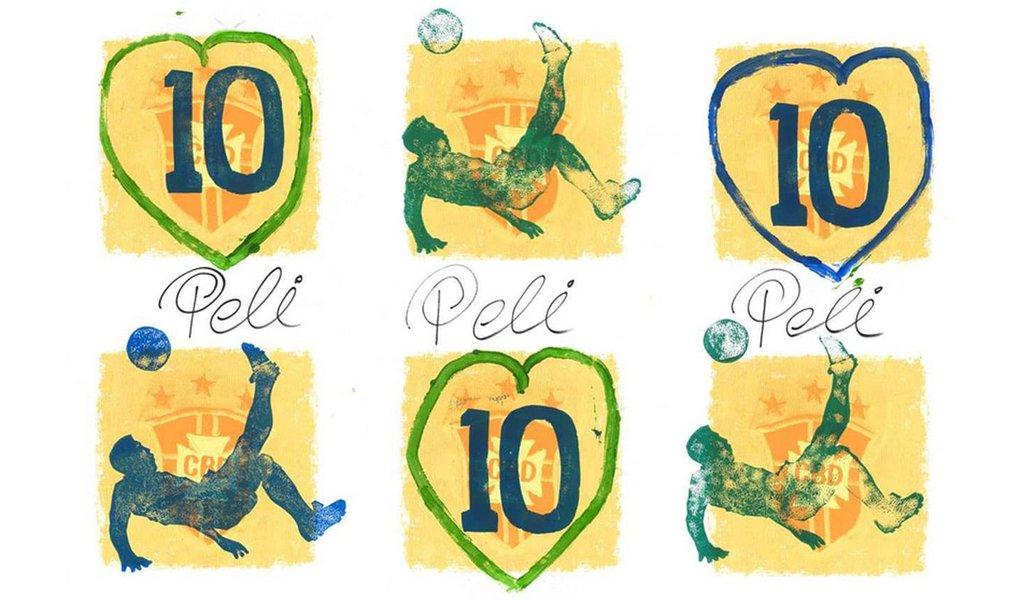 Em nome da arte, Pelé troca pés pelas mãos