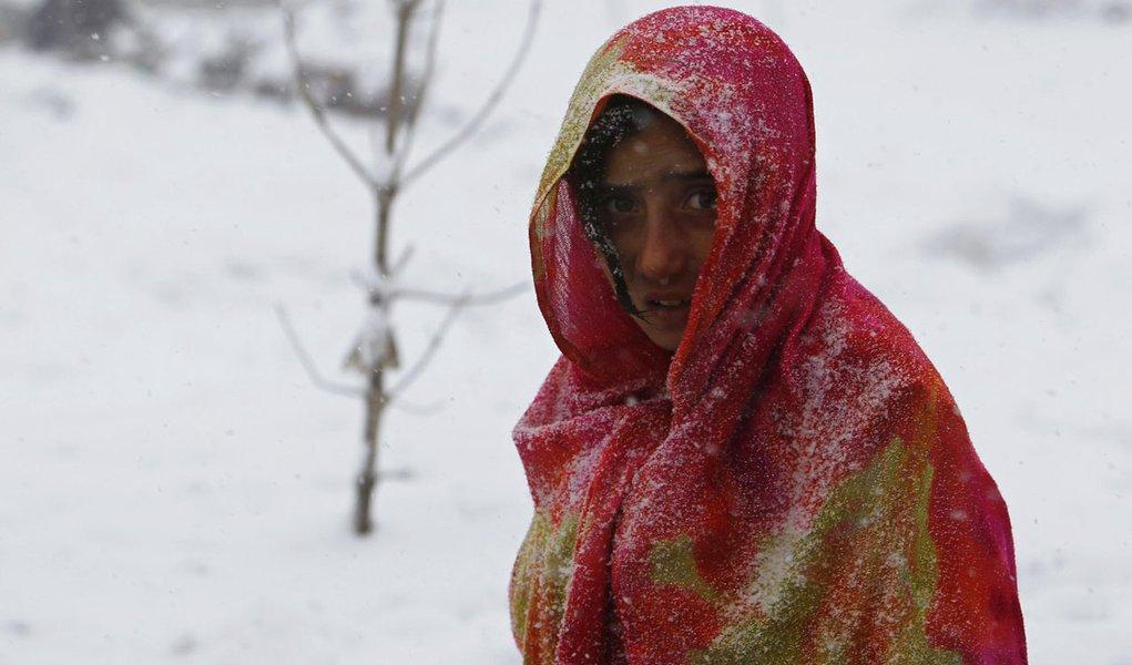 Frio mata mais de 40 no Afeganistão