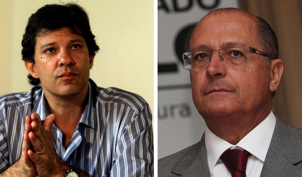 Em debate, Haddad elege Alckmin como alvo