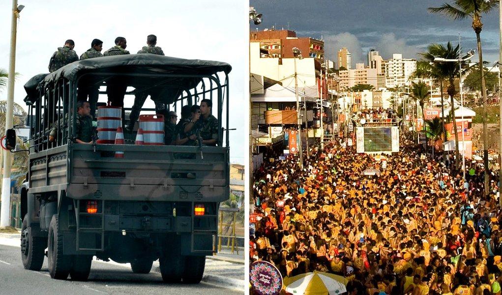 Greve termina na Bahia e PM atua no Carnaval