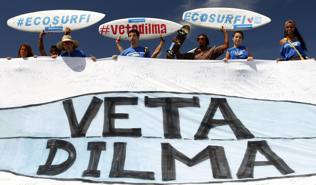 Protesto contra novo Código Florestal