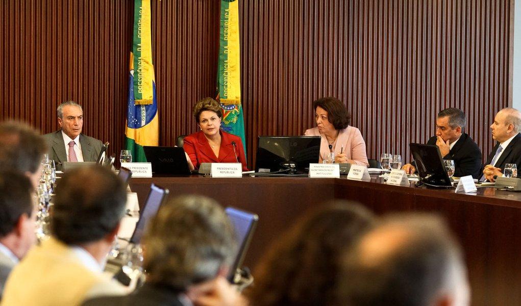 Dilma trata prioridades do Governo com Conselho Político