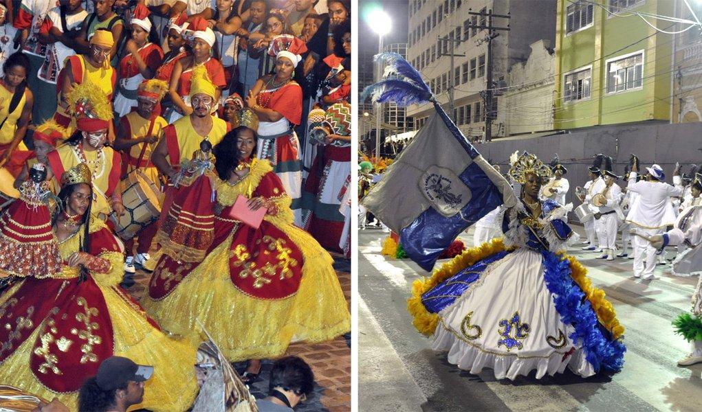 Tradição africana e samba na noite do Recife