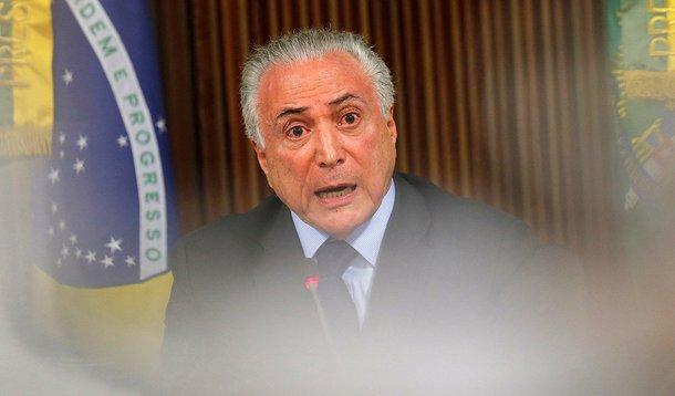 Presidente Michel Temer durante reunião no Palácio do Planalto, em Brasília 12/04/2018 REUTERS/Adriano Machado
