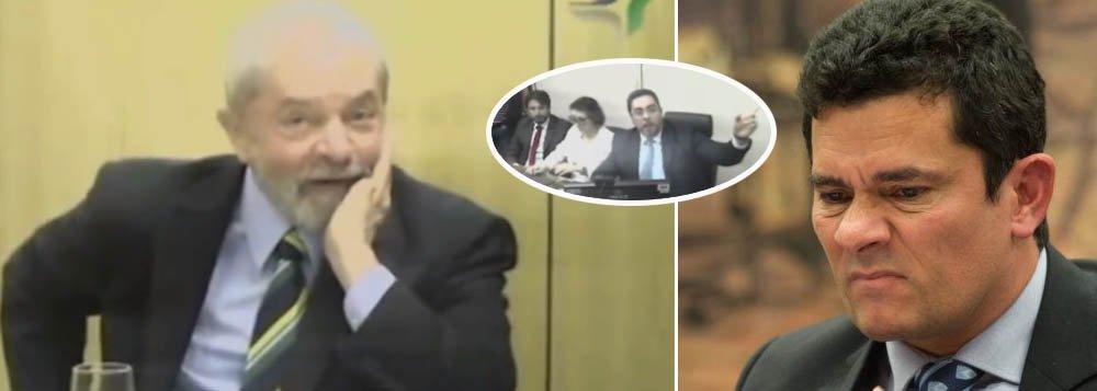 """Depois de quase 60 dias preso, o ex-presidente Lula reapareceu sereno e bem humorado, enquanto seus algozes, do Poder Judiciário, mal sabiam como conduzir um processo ridículo, que apura se o Brasil comprou votos para sediar a Rio 2016; na fala, Lula lembrou que, quando ouviu o presidente do Comitê Olímpico Internacional, abrindo o envelope e falando """"Rio de Janeiro"""", viveu um dos momentos mais emocionantes da sua vida"""