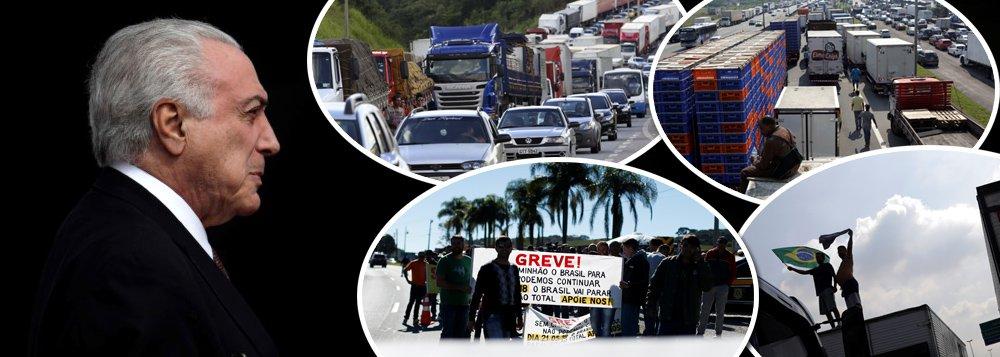 temer greve caminhoneiros caminhao