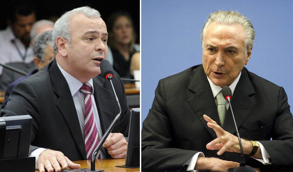 Júlio Delgado e Michel Temer