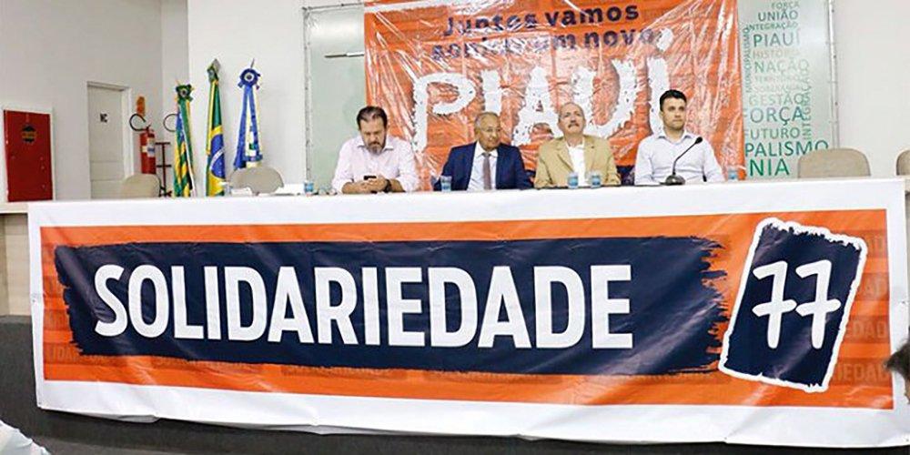 """O ex-ministro do governos Lula e Dilma, Aldo Rebelo (Solidariedade) lançou, na sede da Associação Piauiense dos Municípios (APPM), em Teresina, sua candidatura à Presidência da República; """"Fui acolhido com muito respeito, com muito carinho aqui no Piauí, desde o meu tempo de estudante, quando visitava Teresina, o Piauí e agora como pré- candidato"""", disse"""