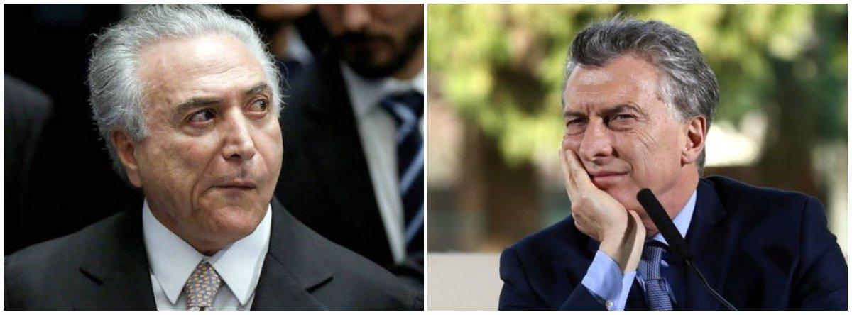 """""""O retorno da direita ao governo na Argentina e no Brasil poderia significar uma atualização das propostas da direita. No entanto, nos dois países em que retomou o governo, se está aplicando o mesmíssimo modelo que já havia fracassado nos anos 1990"""", diz o sociólogo Emir Sader, apontando """"desastrosas consequências: profunda e prolongada recessão, desemprego recorde, desindustrialização da economia, fuga de capitais, elevação do déficit publico"""""""