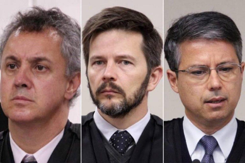 Desembargadores Gebran, Paulsen e Santos Laus - da esquerda para direita