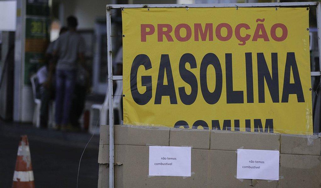 Posto fechado em Brasília com o estoque de combustíveis e gás de cozinha zerados.Foto Fabio Rodrigues Pozzebom/Agência Brasil