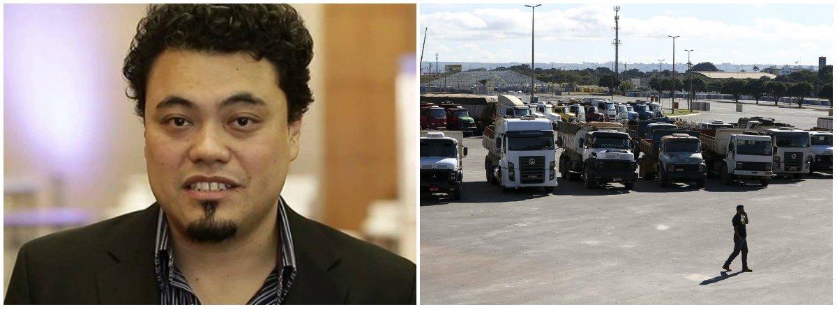 """""""Muitos acham que o acordo beneficia mais as empresas de transporte de cargas e não os autônomos. E demandam a redução 'de verdade' no preço do diesel, seja pela Petrobras, pela via queda da incidência do PIS/Cofins pelo governo federal ou por qualquer outro caminho"""", diz o jornalista Leonardo Sakamoto"""