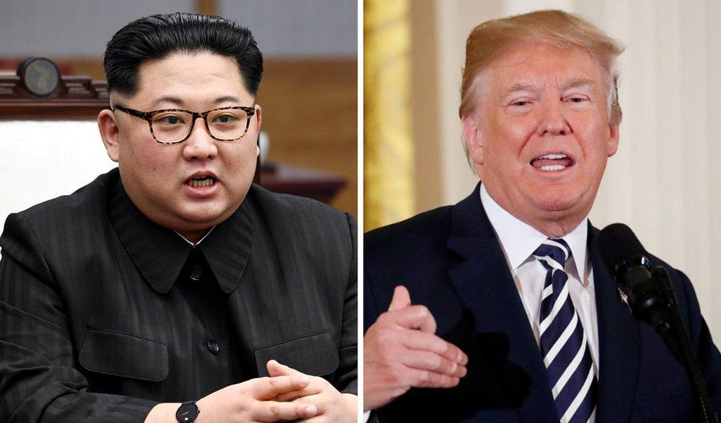 """O presidente dos Estados Unidos, Donald Trump, cancelou uma reunião planejada com o líder norte-coreano, Kim Jong Un, mesmo depois de a Coreia do Norte cumprir a promessa de destruir túneis em sua instalação de testes nucleares; """"Infelizmente, com base na raiva tremenda e na aberta hostilidade exibida em sua declaração mais recente, sinto que é inapropriado, neste momento, realizar esta reunião há muito planejada"""", disse Trump"""