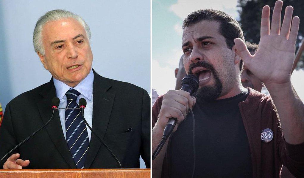 Michel Temer e Guilherme Boulos