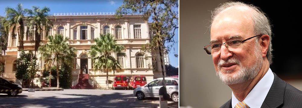Preso a um quilômetro de casa, o tucano Eduardo Azeredo está na antiga sede do Colégio Anglo-Mineiro, tomado pelo Patrimônio Cultural de Belo Horizonte