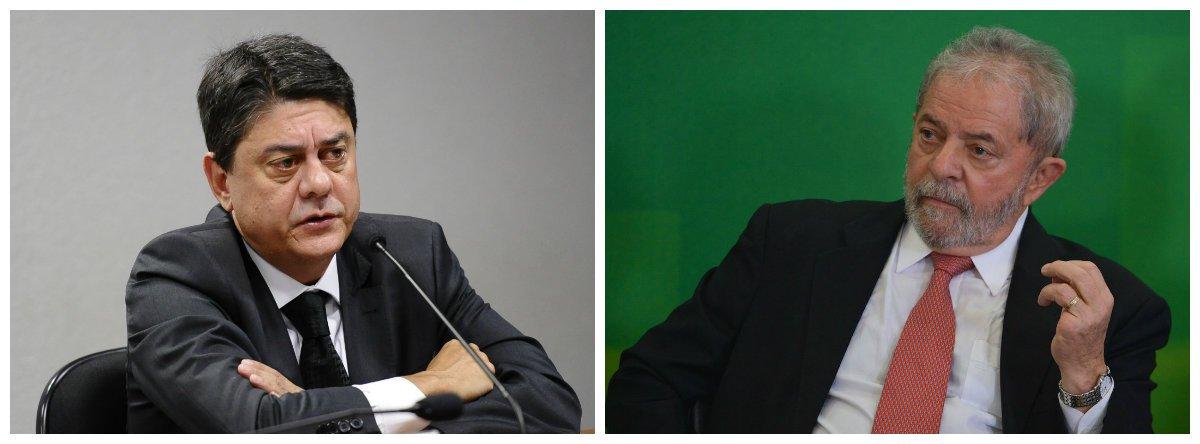 Deputado federal Wadih Damous (PT-RJ) e ex-presidente Luiz Inácio Lula da Silva .2