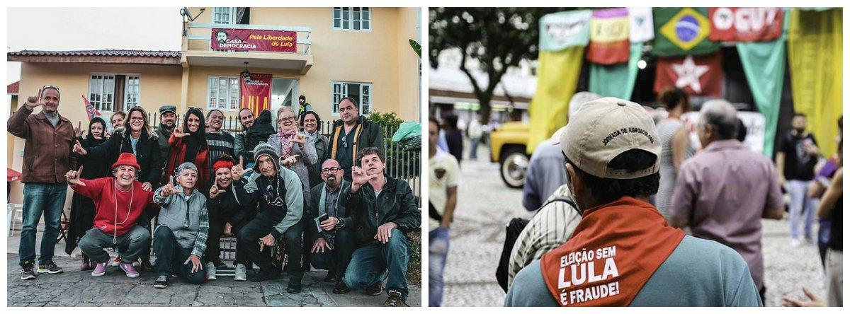 Moradores apoiam Vigília Lula Livre em Curitiba .2
