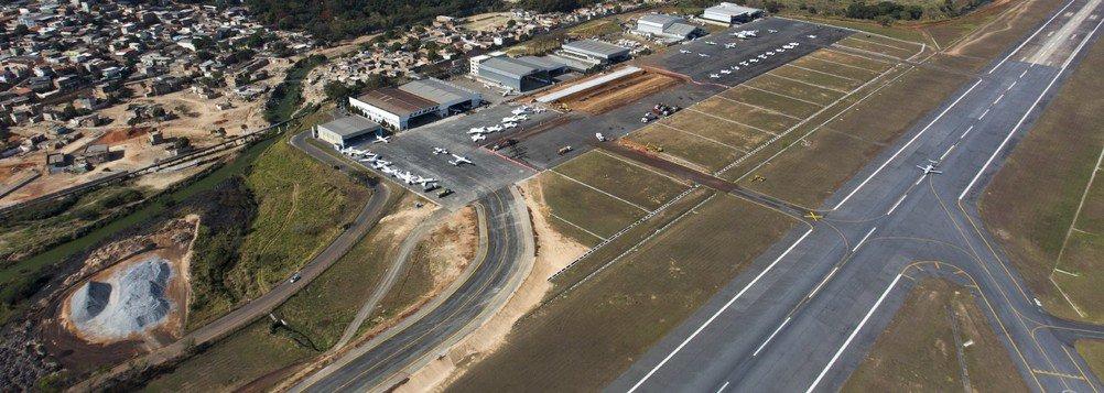 Obras na Aeroporto da Pampulha Foto: JOAO MARCOS ROSA / NITRO