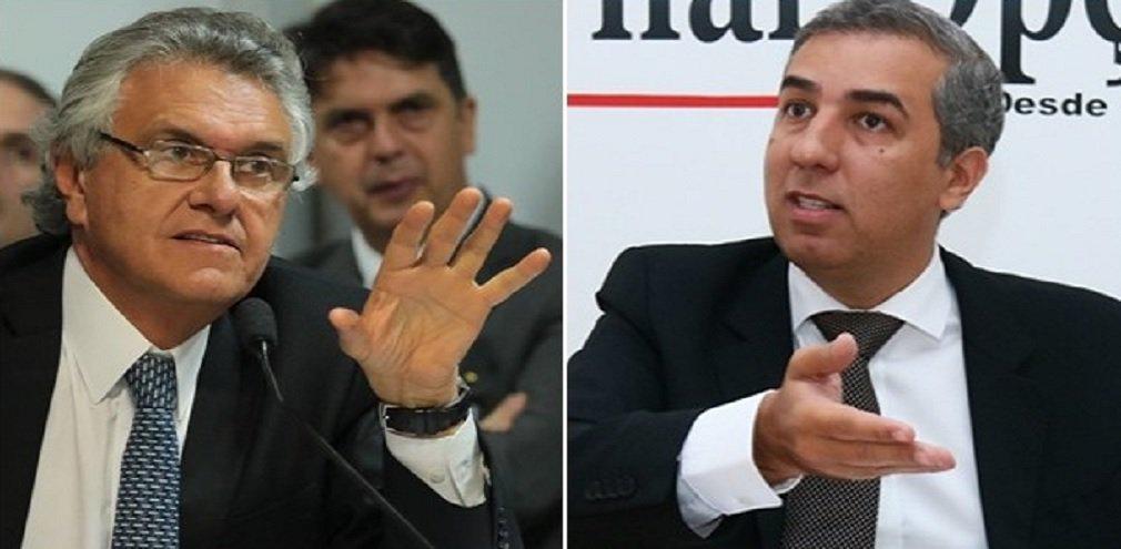 O jornal O Popular divulgou neste domingo a segunda rodada da pesquisa Serpes; a liderança é do senador Ronaldo Caiado (DEM), com 38%, que tinha 39,7% no levantamento realizado em abril. A queda de Caiado está dentro da margem de erro, que é de 3,5 pontos percentuais para mais ou menos, mas não deixa de mostrar certa estagnação do parlamentar; governador José Eliton (PSDB) cresceu na pesquisa; em abril, tinha 6,7% e agora apresenta 10% das intenções de voto, se firmando no segundo lugar; o deputado federal Daniel Vilela (MDB) ficou 5,6%, sendo que na pesquisa anterior tinha 6,2%