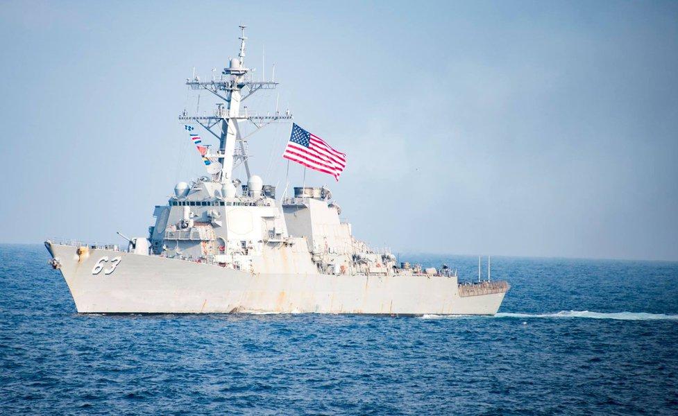 O Ministério da Defesa da China protestou contra a presença de uma embarcação dos EUA em suas águas territoriais, considerando que se trata de uma violação do direito internacional e de sua soberania nacional