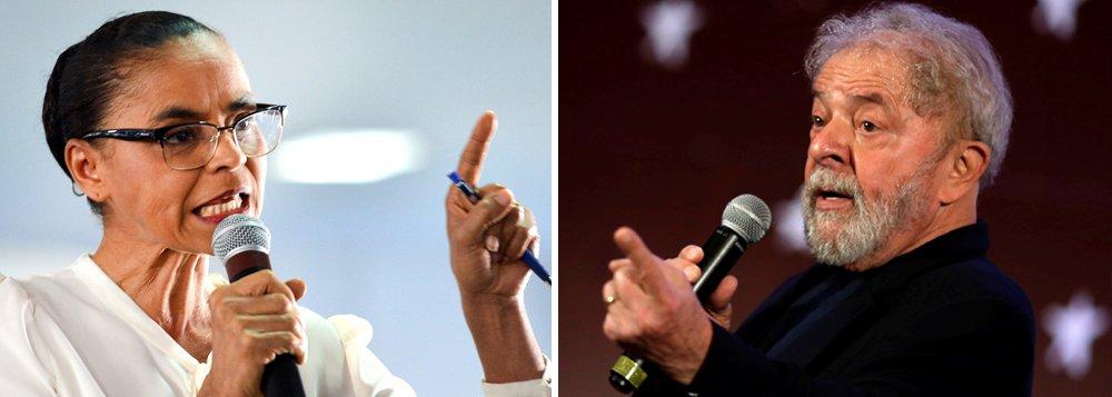 """A pré-candidata da Rede ao Planalto, Marina Silva, disse não concordar que o ex-presidente Lula seja apresentado como candidato nas eleições de outubro alegando a necessidade de respeitar a lei da Ficha Limpa; para ela, Lula deve permanecer na cadeia; """"A lei deveria ser cumprida. Em uma democracia, não se pode mudar lei em função de uma pessoa"""", disse; Lula, que mesmo estando em Curitiba lidera todas as pesquisas de intenção de voto, deverá ser apresentado como o candidato do PT à Presidência da República nos próximo dias"""