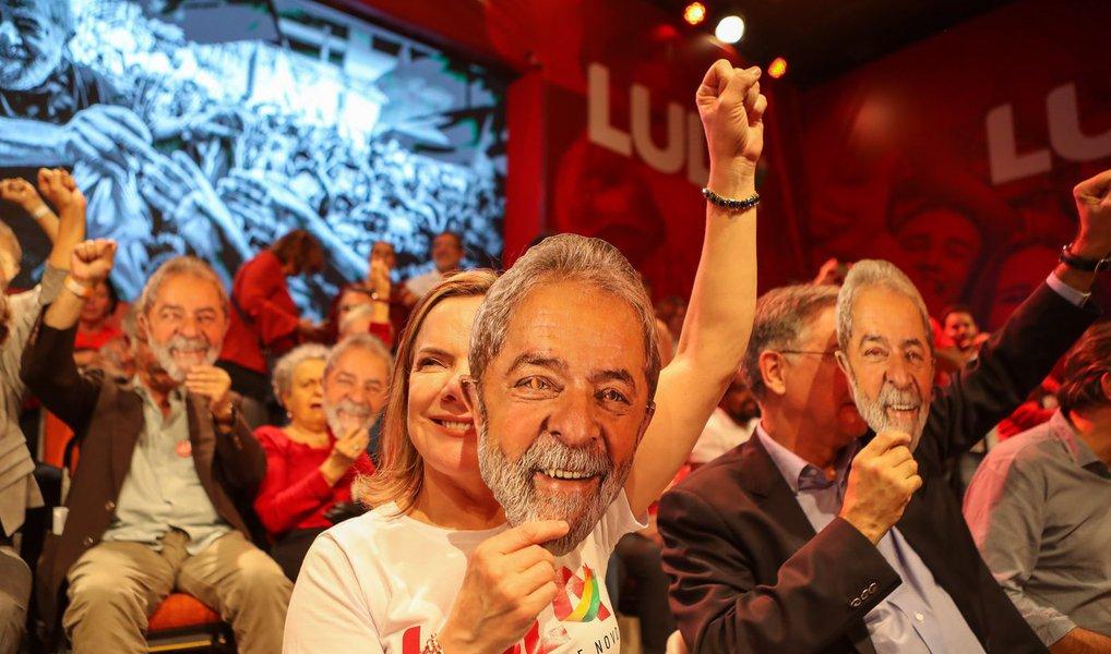 Gleisi no lançamento da candidatura Lula
