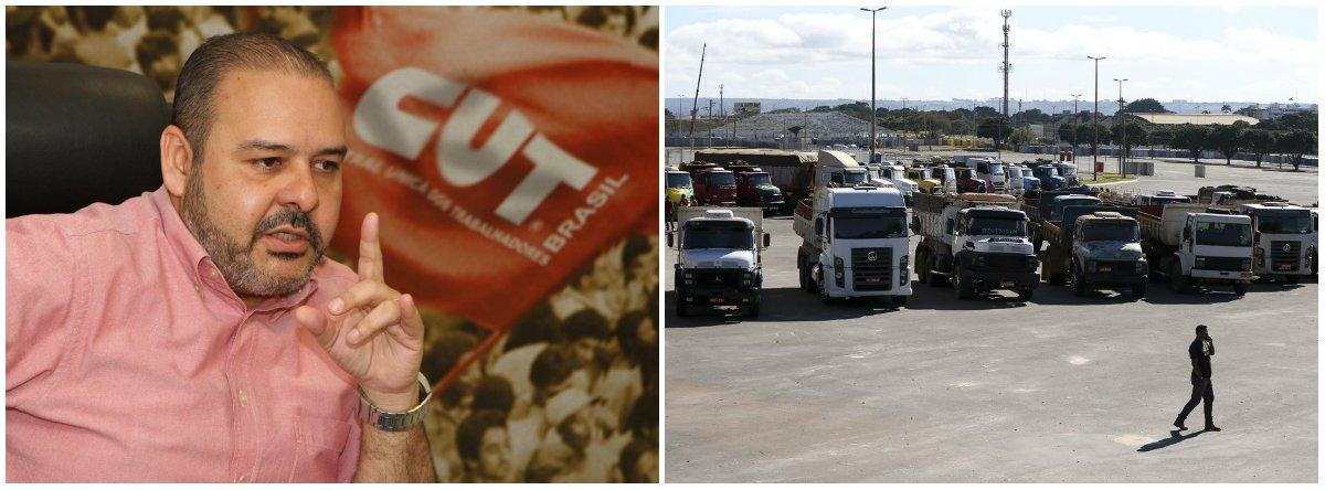 """Presidente da CUT, Vagner Freitas afirma que """"a população precisa apoiar este movimento que não é somente contra o reajuste dos combustíveis, é contra a privatização da Petrobras. O governo está utilizando esses aumentos para defender a venda da estatal"""""""