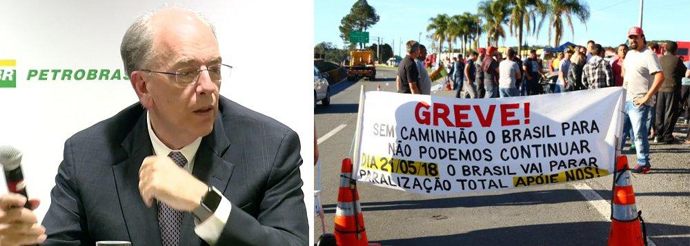 Com o caos no País em razão da greve dos caminhoneiros, que já paralisa estradas, fábricas e aeroportos, a Petrobras abandonou a política desastrosa de Pedro Parente e reduziu o diesel em 10% por 15 dias; petroleiros e engenheiros da estatal apontam Parente como o grande responsável pela confusão geral no País