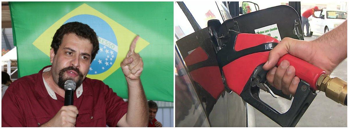"""Com os caminhoneiros em greve cobrando redução nos preços do óleo diesel, o presidenciável Guilherme Boulos (Psol) afirmou que é """"preciso rever a política de tributação, focando na renda e patrimônio. E sobretudo enfrentar a agiotagem das distribuidoras e postos. O governo não pode só ficar assistindo""""; """"O movimento grevista é legítimo. Os reajustes devem ser anulados já"""""""