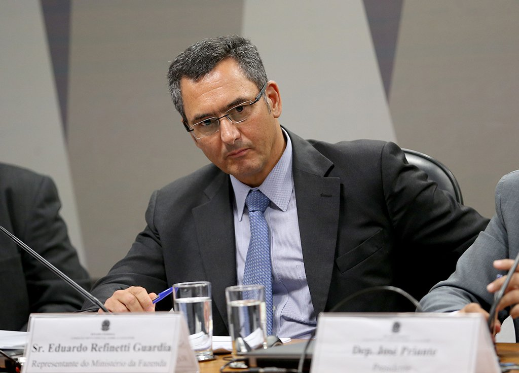 Brasília - O ministro interino da Fazenda, Eduardo Guardia durante audiência pública da Comissão Mista Especial sobre a Lei Kandir (Wilson Dias/Agência Brasil)