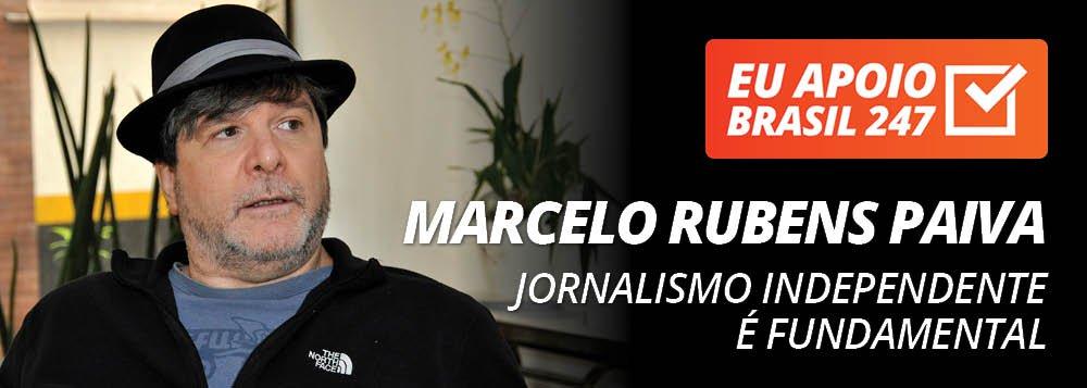"""O jornalista, escritor e dramaturgo Marcelo Rubens Paiva apoia a campanha de assinaturas solidárias do Brasil 247. """"Viva o jornalismo livre, viva o jornalismo independente. É fundamental para a democracia brasileira que existam meios e grupos trabalhando para o jornalismo independente"""", diz ele, em seu vídeo de apoio; assista"""