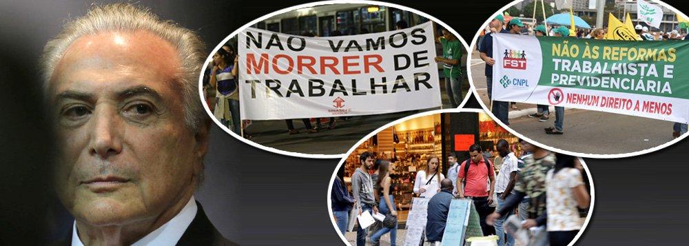 """O Brasil pode entrar na lista dos 24 casos mais graves de violações das convenções e recomendações da OIT cometidos por empresas e governos em todo o mundo; decisão ocorrerá na Conferência Internacional do Trabalho, que será realizada na Suíça, em junho entre os dias 28 de maio e 8 de junho; """"A CUT conseguiu colocar o Brasil na lista longa por violação às Convenções 98, 151 e 154 da OIT em função da reforma Trabalhista de Temer"""", dizo secretário de Relações Internacionais da CUT, Antônio Lisboa"""