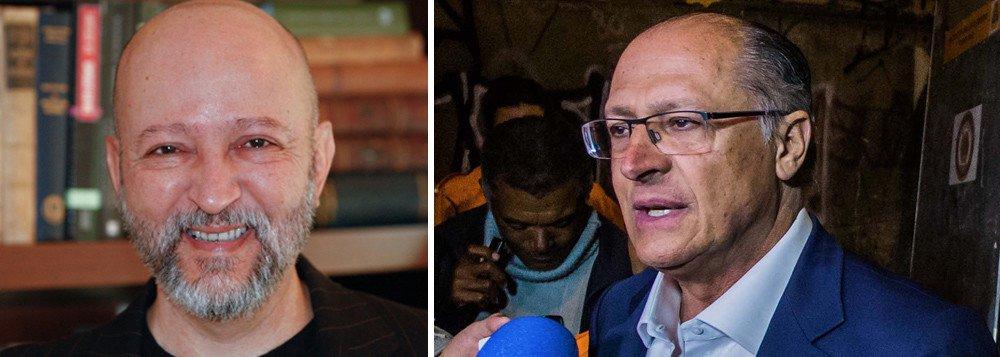 """""""Espremido em sabatina, o tucano Geraldo Alckmin exibiu uma retórica feita 50% de evasivas e 50% de mesmices. O resultado da soma das duas partes é um presidenciável 100% incapaz de responder às duas principais demandas do eleitorado em 2018: limpeza e esperança"""", escreve o jornalista Josias de Souza, do UOL, que sabatinou o tucano hoje junto com a Folha e o SBT"""