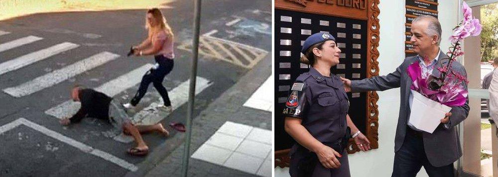 """""""Governador de São Paulo, Márcio França, do PSB, foi conivente com os milhares de assassinatos cometidos pela polícia quando era vice de Alckmin. Agora, contrariou orientação da própria cúpula da PM e apressou-se em homenagear a policial que matou assaltante na porta da escola da filha. PC do B está apoiando seu governo"""", diz o jornalista e colunista do 247 Mauro Lopes; """"apoiar o 'socialista' França é equivalente à esquerda apoiar o governo assassino de Geisel por ser ele 'desenvolvimentista'"""", avalia Lopes"""
