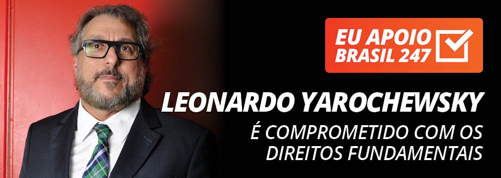 """O advogado criminalista e professorLeonardo Yarochewskyapoia a campanha de assinaturas solidárias do Brasil 247.""""Porque é um site comprometido com os direitos fundamentais, com as garantias constitucionais e com a igualdade social"""", defende, em seu vídeo de apoio; assista"""