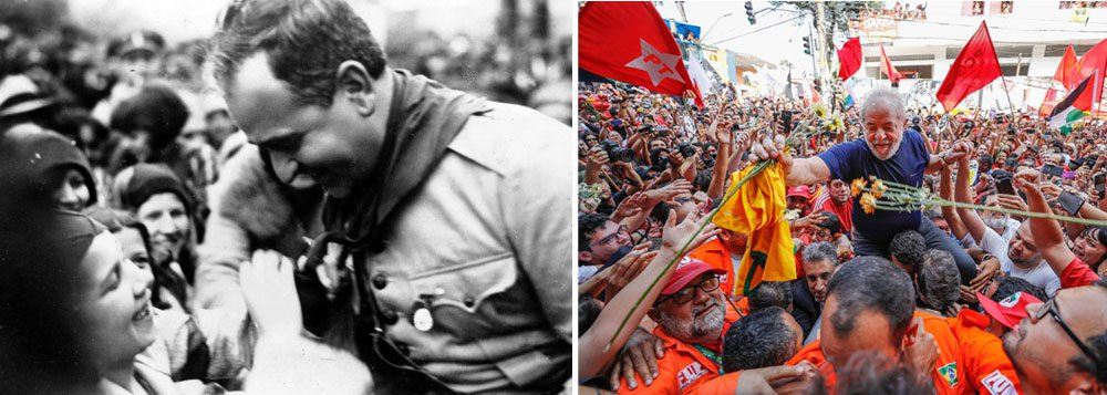 """""""O golpe neoliberal conseguiu reconciliar Lula com as esquerdas, o que há poucos anos parecia algo impossível de acontecer"""", diz o historiador Rodrigo Perez Oliveira; segundo ele, Lula fez """"uma caipirinha com os limões azedos que seus adversários togados lhe deram""""; no entanto, diferentemente de Getúlio Vargas, que precisou tirar a vida, para derrotar seus algozes, """"Lula entrou pra história sem precisar sair da vida""""; prisão de Lula completa um mês amanhã sem que ele tenha capitulado diante dos que o perseguem"""