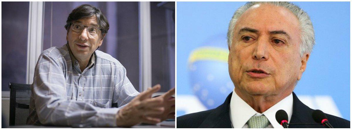 """""""Pelo neoliberalismo de Temer, o Brasil regride e passa a ser exemplo de país a não ser seguido no mundo"""", afirmou oeconomista Márcio Pochmann; segundo última pesquisa Datafolha, apenas 3% dos brasileiros aprovam o atual governo"""