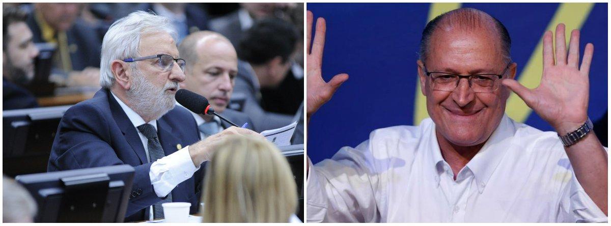 """""""Gente! A campanha de Alckmin tá caindo no ridículo como em 2010. Esta de contratar claque p/ aplaudi-lo em aeroporto, não é só desespero tucano p/competir c/Bolsonaro, é a demonstração cabal do estrago q o apoio ao golpe fez aos tucanos"""", afirmou odeputado federal Ivan Valente (Psol-SP)"""