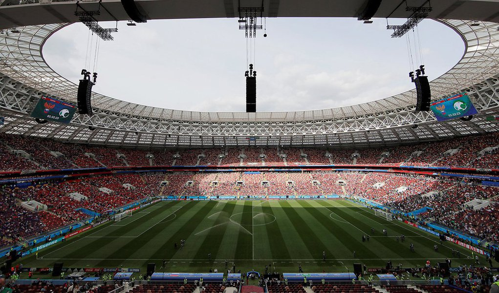 Estádio Luzhniki, palco da abertura da Copa do Mundo entre Rússia e Arábia Saudita 14/06/2018 REUTERS/Maxim Shemetov