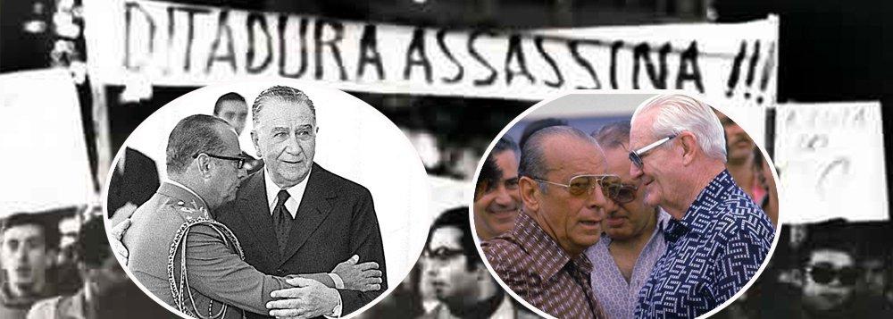 Durante o governo do general Emílio Médici (1969-1974), pelo menos 104 brasileiros foram assassinados sumariamente por militares doCentro de Informações do Exército (CIE);revelação foi feita nesta tarde pelo doutor em Relações Internacionais e professor da FGV, Matias Spektor, que divulgou documento do Departamento de Relações Exteriores dos EUA a partir de relato da CIA; segundo Spektor, logo após sua posse, em 1974, o general Ernesto Geisel foi informado das execuções pelos dirigentes do CIE e pelo seu indicado para o Serviço Nacional de Informações (SNI), o general João Figueiredo; Geisel autorizou a continuação dos assassinatos, mas fez duas ressalvas: 'apenas subversivos perigosos' e cada novo homicídio seria analisado e autorizado por Figueiredo