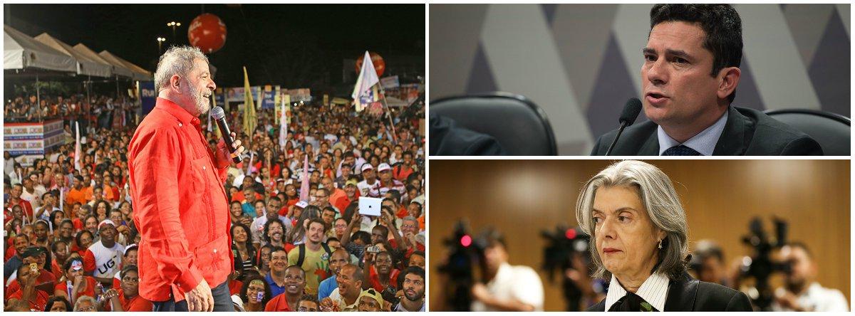 """""""Apenas num país onde a credibilidade do Judiciário atingiu um nível impensável em qualquer nação civilizada exibe a cena que os brasileiros assistiram nesta tarde de sábado, quando algumas centenas de manifestantes tentaram impedir que Lula se apresentasse a Polícia Federal"""", escreve Paulo Moreira Leite, articulista do 247; para PML, """"cabe estar preparado para novas lutas e mobilizações que serão necessárias, daqui para a frente, para defender os direitos de quem perdeu o maior deles, a liberdade"""""""